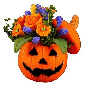 Halloween Pumpkin Floral Arrangement