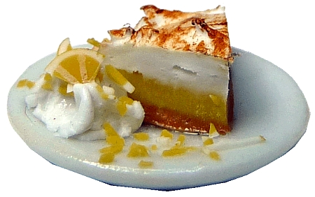 Lemon Meringue Pie Slice on Plate
